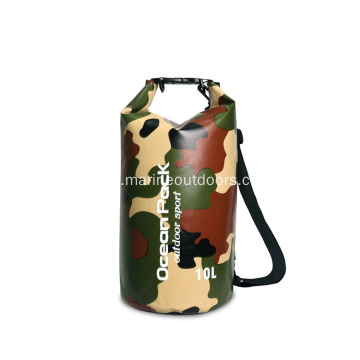 Outdoor Camping 500D PVC Tarpaulin 10L Water Proof Dry Bag With Valve
